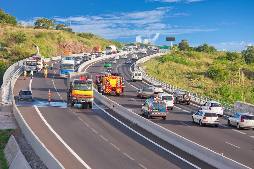 高速道路での事故